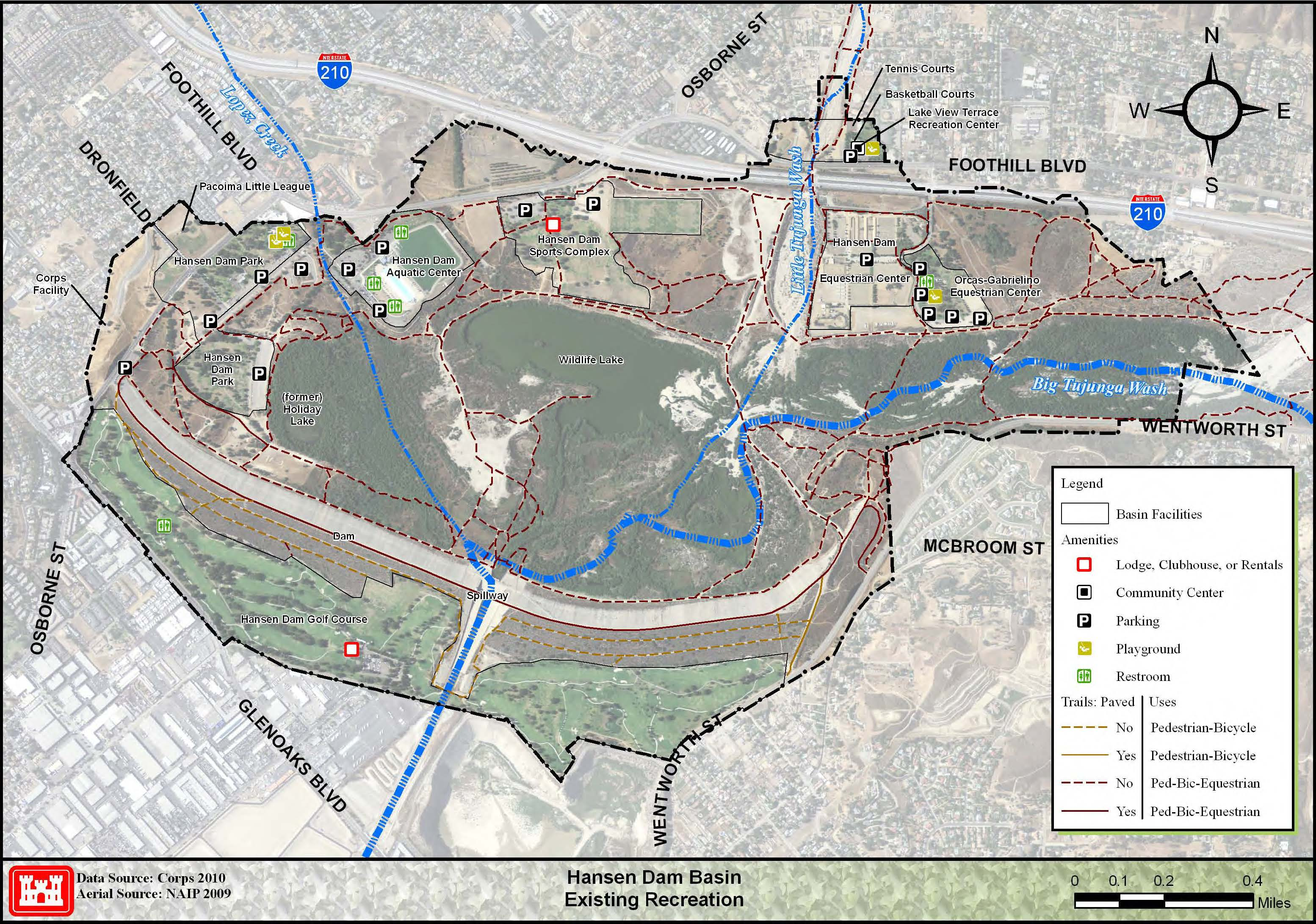 Hansen Dam Recreational Opportunities Los Angeles District Los
