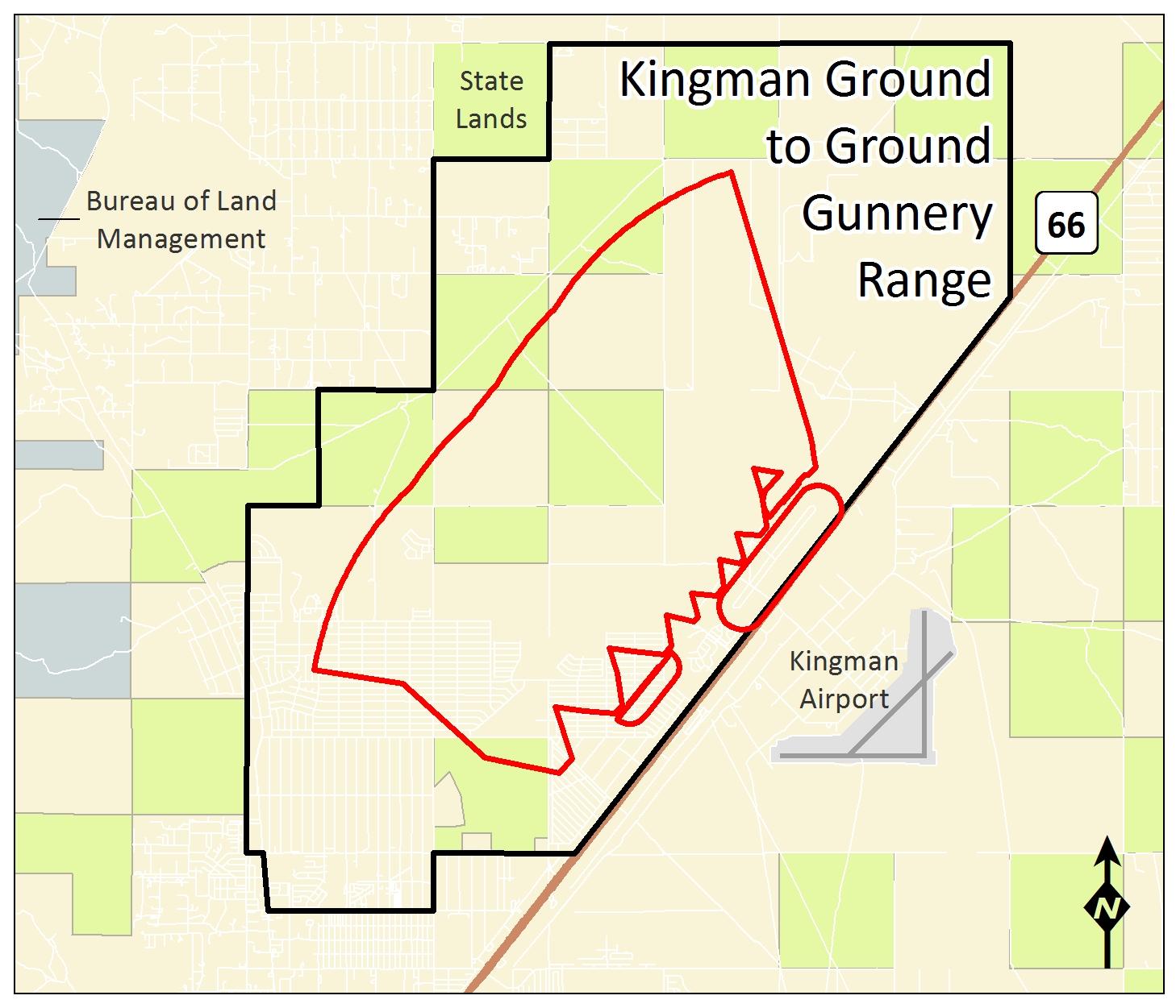 Map Of Arizona Kingman.Kingman Ground To Ground Gunnery Range