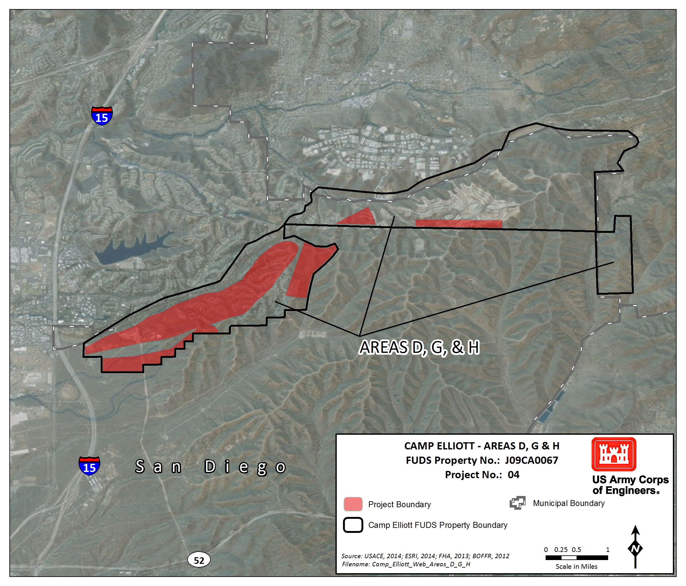 The Former Camp Elliott Is Located Approximately 12 Miles Northeast Of Downtown San Diego California The Corps Of Engineers Is Investigating And