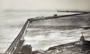 San Pedro breakwater under construction 1902
