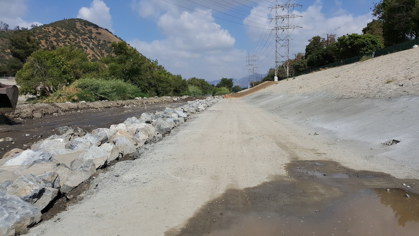 after photo left side levee repair