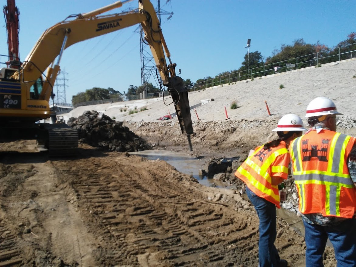 USACE inspecting construction