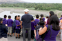 More than 80 second grade students from Cortez Elementary, a math and science magnet school in Pomona, Calif., took a field trip to Prado Dam May 16.  The tour included a nearly two-mile trek through the flood control basin up to the dam's 627-foot control tower.